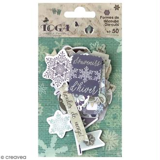 Die cut Toga - Let it Snow - 50 pcs