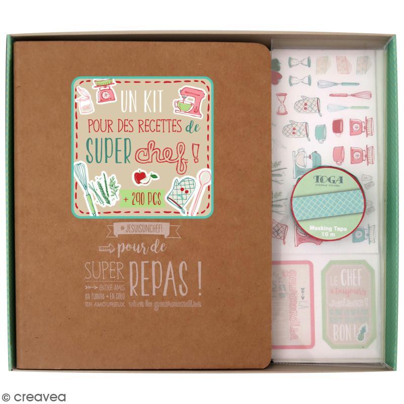 Kit Scrapbooking - livre de recettes - Pour des recettes de super chef! - Photo n°1