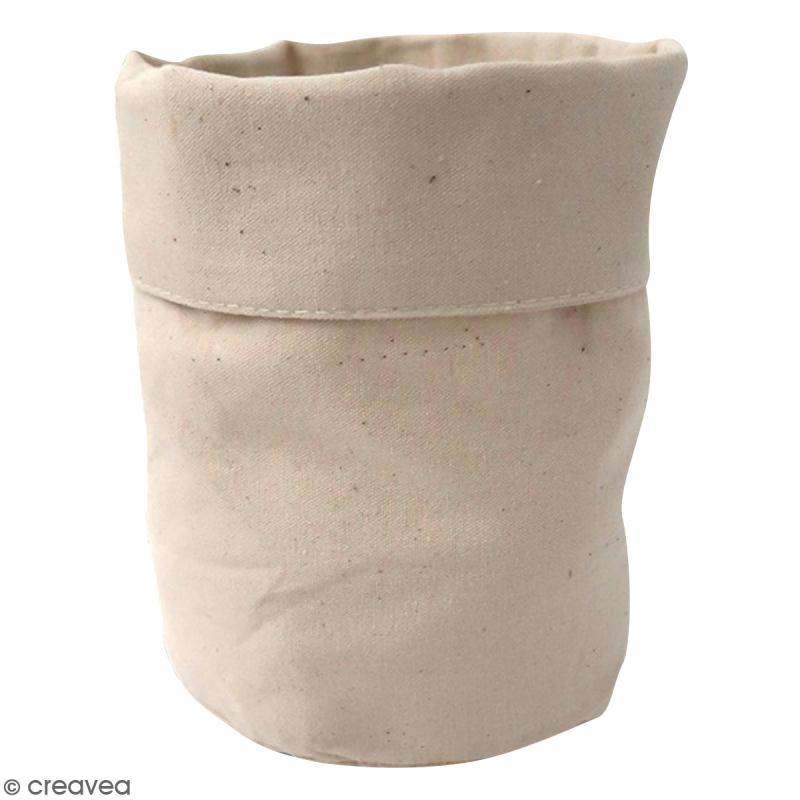 pochon en tissu 12 x 16 cm blanc cass trousse d corer creavea. Black Bedroom Furniture Sets. Home Design Ideas