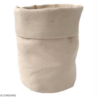 Pochon en tissu 12 x 16 cm Blanc cassé