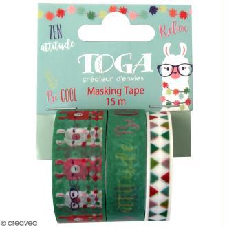 Masking tape Toga - Lama - 3 rouleaux