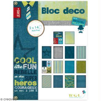 Bloc Déco Toga - 100 % Masculin - 15 x 20 cm - 28 feuilles