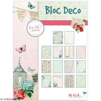 Bloc Déco Toga - Shabby love - 15 x 20 cm - 28 feuilles