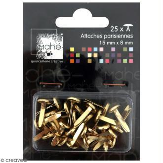 Attaches parisiennes dorées - 15 mm - 25 pcs