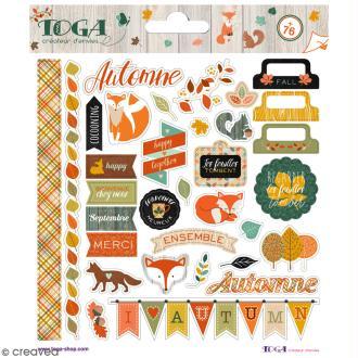 Stickers Miel et Cannelle Toga - 2 planches de 15 x 15 cm