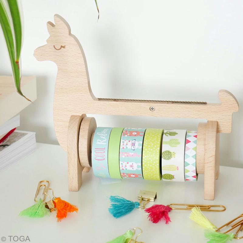 Rangement dérouleur Masking Tape - Lama Bois - Photo n°3