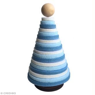 Kit sapin en feutre à poser - Bleu, Blanc - 1 pce
