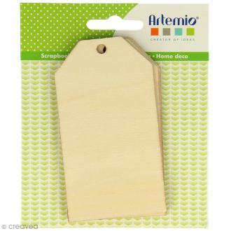 Grandes étiquettes en bois à décorer - 11 x 20 cm - 3 pcs