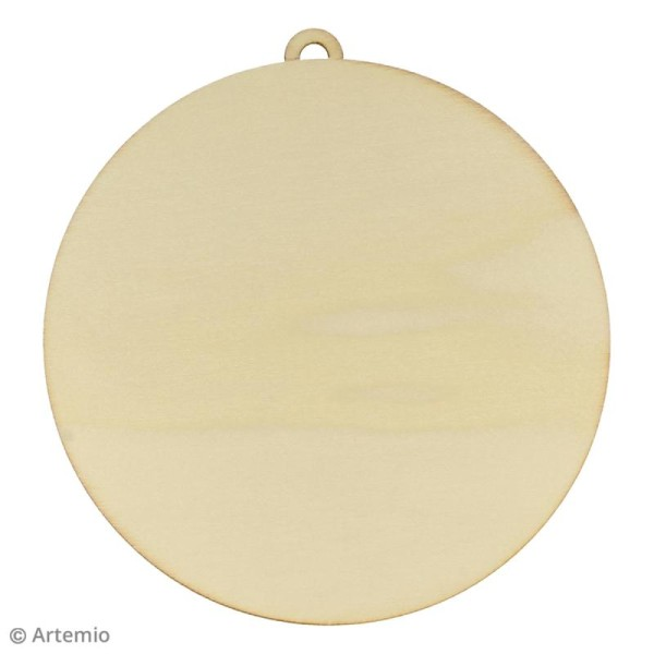 Forme en bois à décorer - Boule 7 cm - 3 pcs - Photo n°2