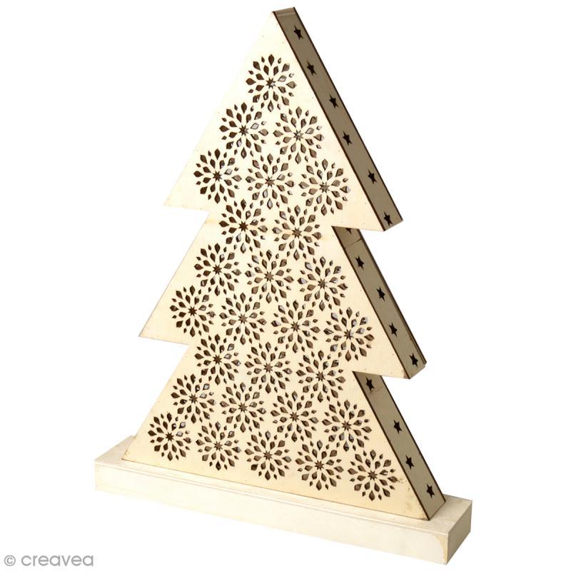 Tableau LED en bois  Sapin  Lampe à décorer  Creavea