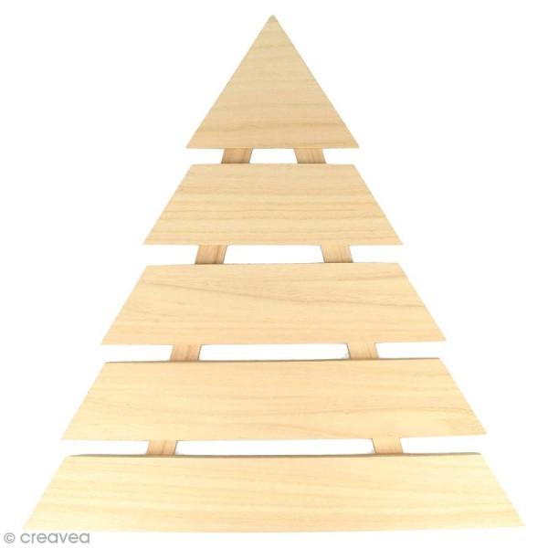 Sapin de Noël en bois design - A lattes - 40 x 40 cm - Photo n°1