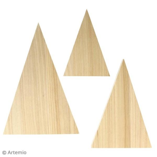 Triangles en bois à décorer - 3 pcs - Photo n°2
