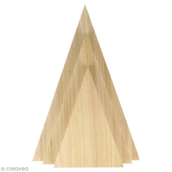 Triangles en bois à décorer - 3 pcs - Photo n°1