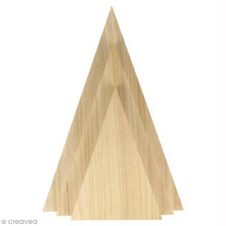 Triangles en bois à décorer - 3 pcs