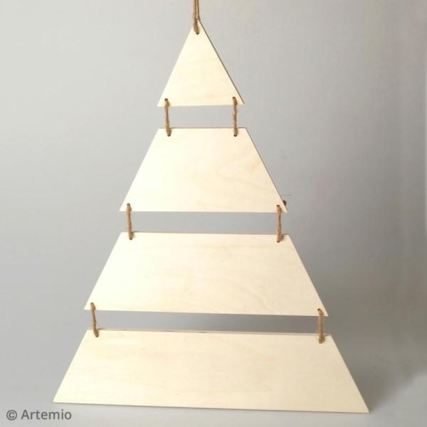 Sapin de Noël en bois design - A suspendre - 40 x 53,5 cm - Photo n°2
