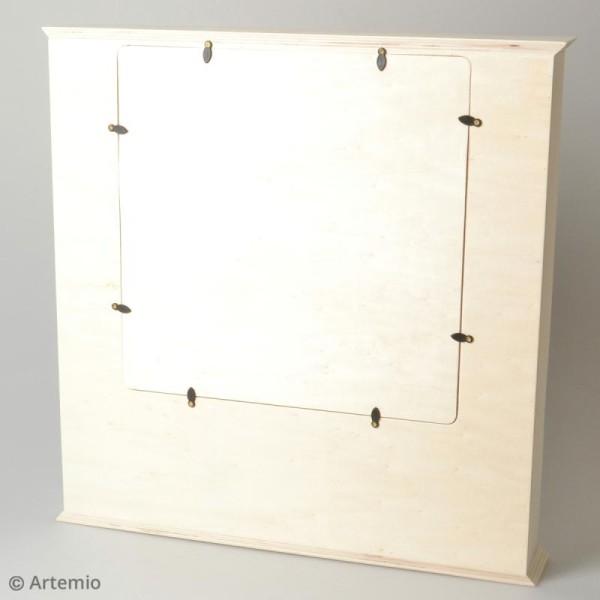 Calendrier de l'Avent en bois à décorer - Grand cadre - 44 x 44 cm - Photo n°3