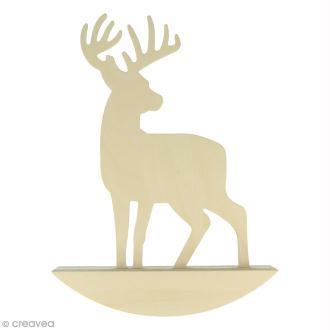 Forme à bascule à décorer 19,5 x 27 cm - Cerf - 1 pce