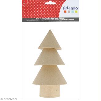 Forme en papier mâché - Sapin boule - 1 pce