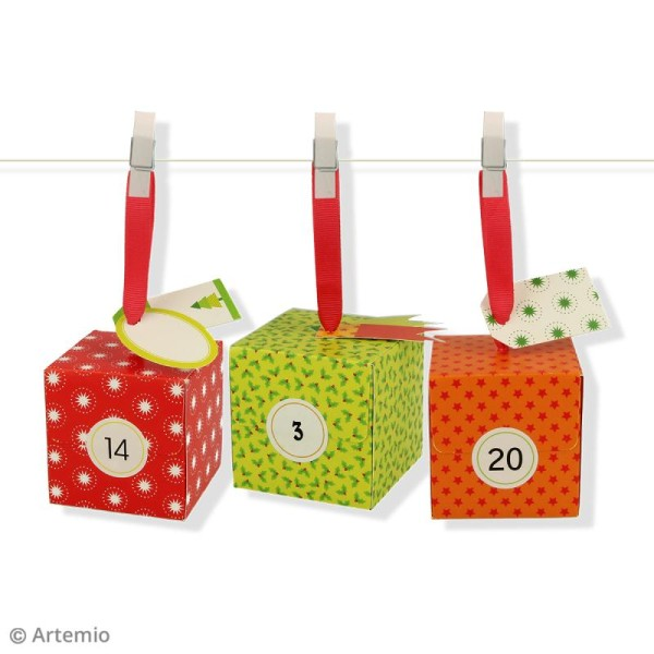 Kit Boîtes calendrier de l'avent - 24 pcs - Photo n°3