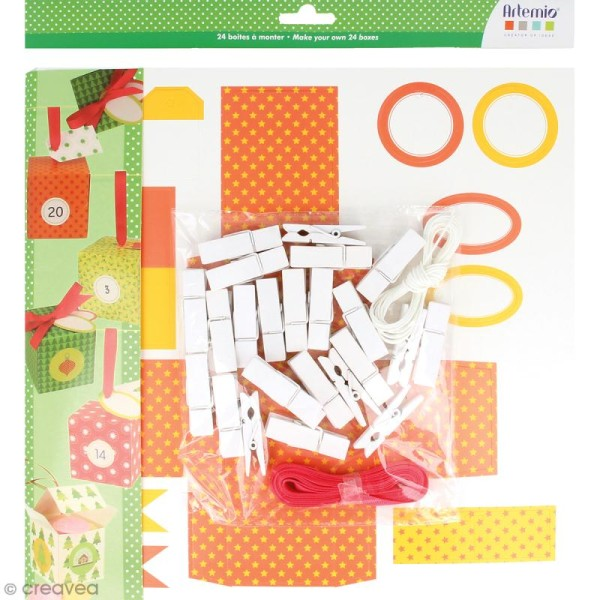 Kit Boîtes calendrier de l'avent - 24 pcs - Photo n°1