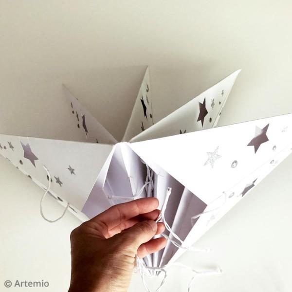 Etoile 3D en papier à décorer - Blanc ajouré - 70 cm - Photo n°2