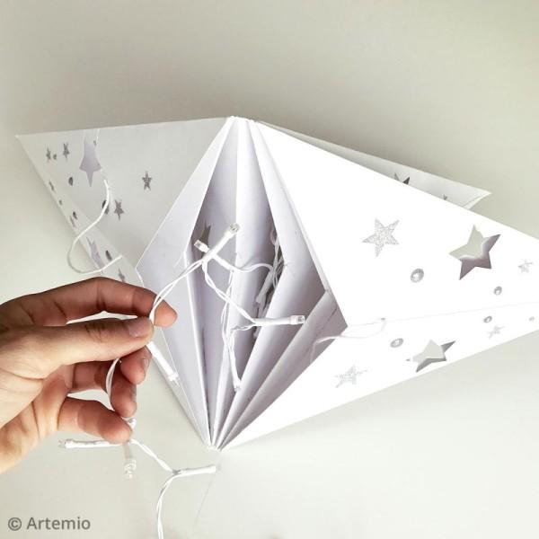 Etoile 3D en papier à décorer - Blanc ajouré - 70 cm - Photo n°3