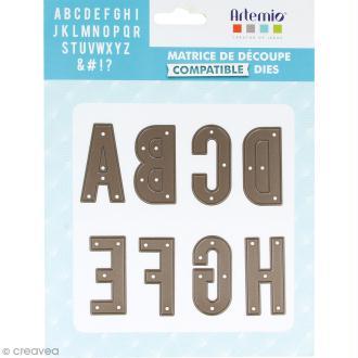 Die Artemio Alphabet - 30 matrices de découpe
