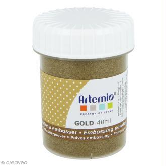 Poudre à embosser Artemio - Doré foncé - 40 ml