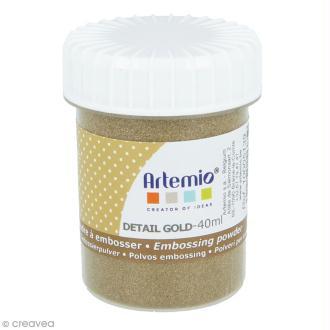 Poudre à embosser Artemio - Doré clair - 40 ml