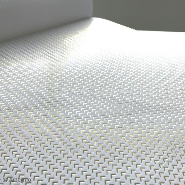 Papier scrapbooking Artemio - Foil doré - 30,5 x 30,5 cm - 40 feuilles - Photo n°3