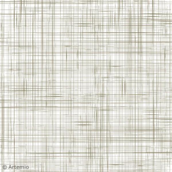 Papier scrapbooking Artemio - Foil doré - 30,5 x 30,5 cm - 40 feuilles - Photo n°4