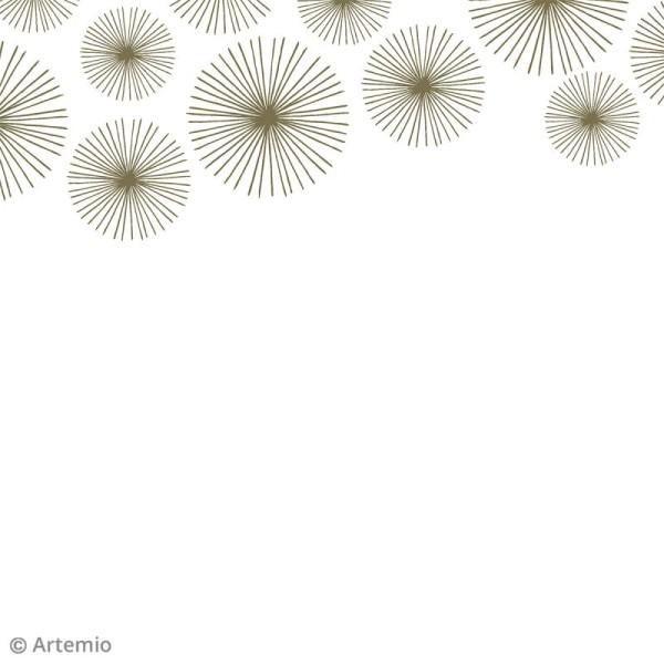 Papier scrapbooking Artemio - Foil doré - 30,5 x 30,5 cm - 40 feuilles - Photo n°5