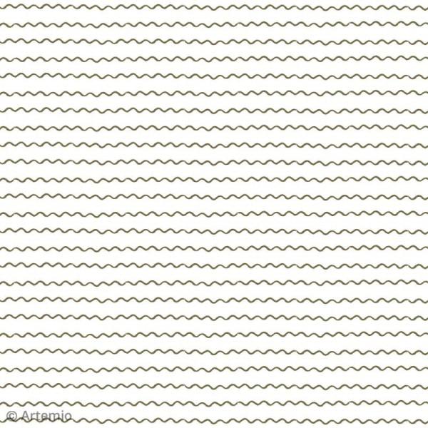 Papier scrapbooking Artemio - Foil doré - 30,5 x 30,5 cm - 40 feuilles - Photo n°6