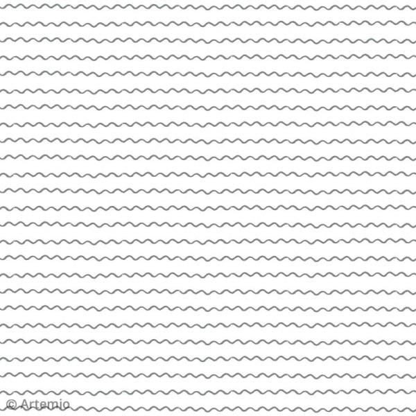 Papier scrapbooking Artemio - Foil argenté - 30,5 x 30,5 cm - 40 feuilles - Photo n°4