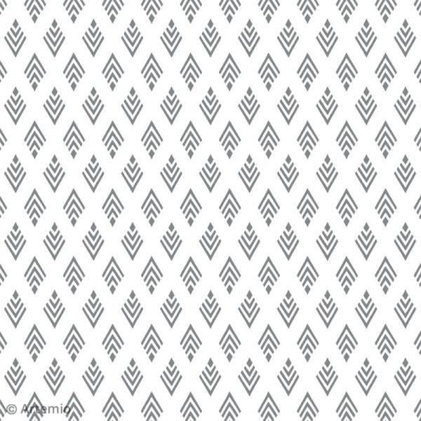 Papier scrapbooking Artemio - Foil argenté - 30,5 x 30,5 cm - 40 feuilles - Photo n°6