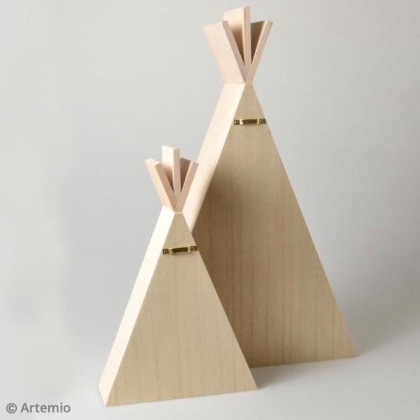 Etagères Tipi en bois à décorer - 30 x 45 cm - 2 pcs - Photo n°2