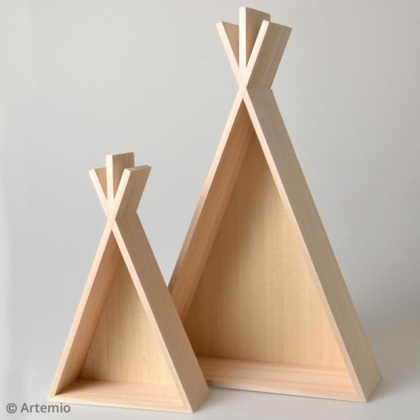 Etagères Tipi en bois à décorer - 30 x 45 cm - 2 pcs - Photo n°3