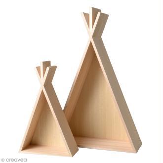 Etagères Tipi en bois à décorer - 30 x 45 cm - 2 pcs