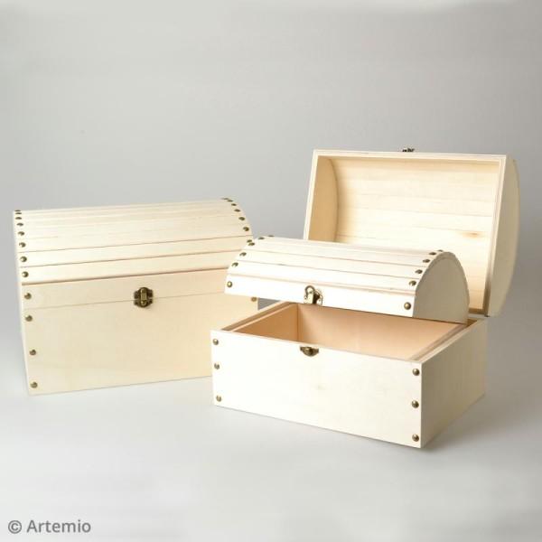 3 coffres gigognes en bois à décorer - 32 x 24,5 cm - Photo n°2
