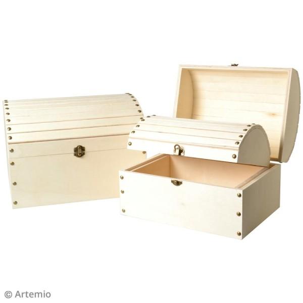3 coffres gigognes en bois à décorer - 32 x 24,5 cm - Photo n°4