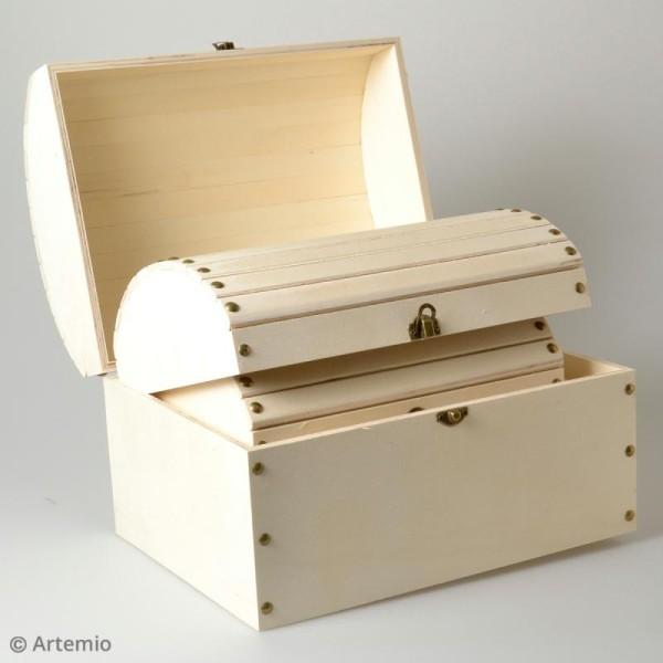 3 coffres gigognes en bois à décorer - 32 x 24,5 cm - Photo n°5