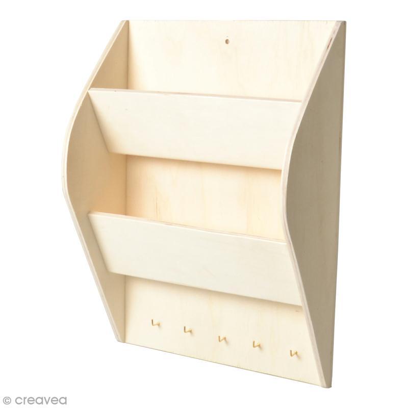 range courrier en bois d corer 25 x 35 cm range lettres d corer creavea. Black Bedroom Furniture Sets. Home Design Ideas