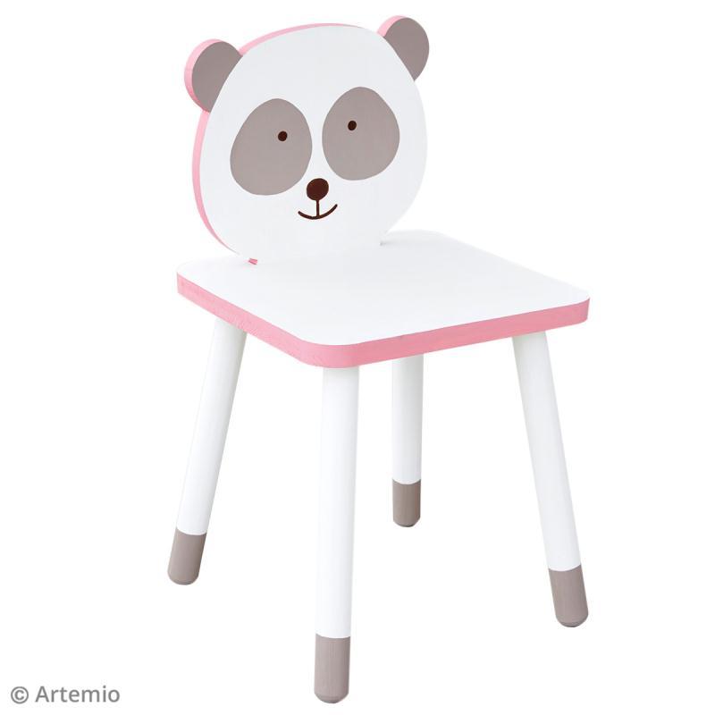 Chaise pour enfant à construire et décorer - Panda adorable - 29 x 53 cm - Photo n°3