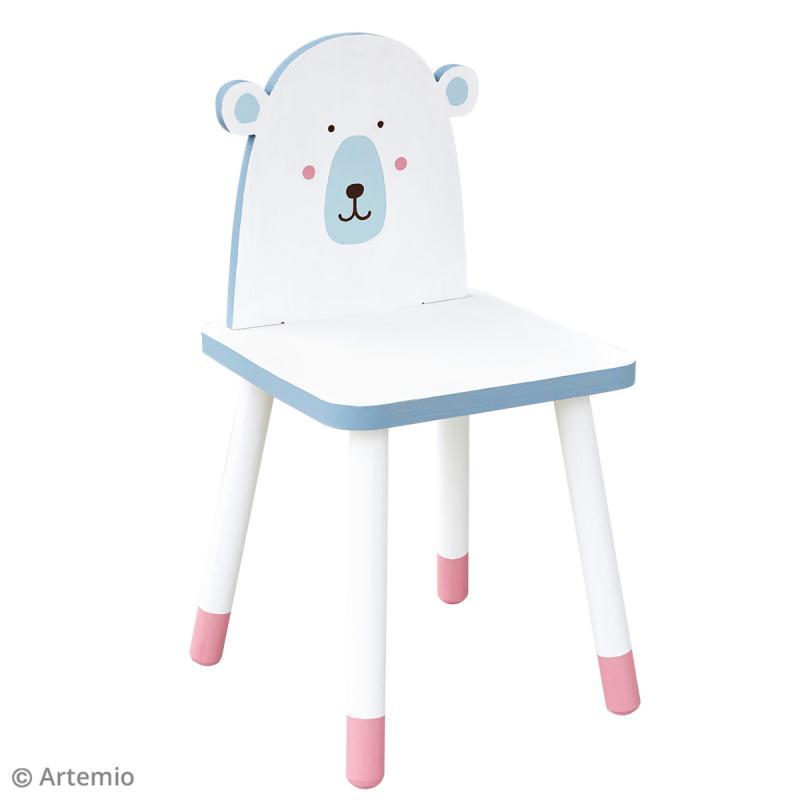 Chaise pour enfant à construire et décorer - Ours adorable - 29 x 57 cm - Photo n°3