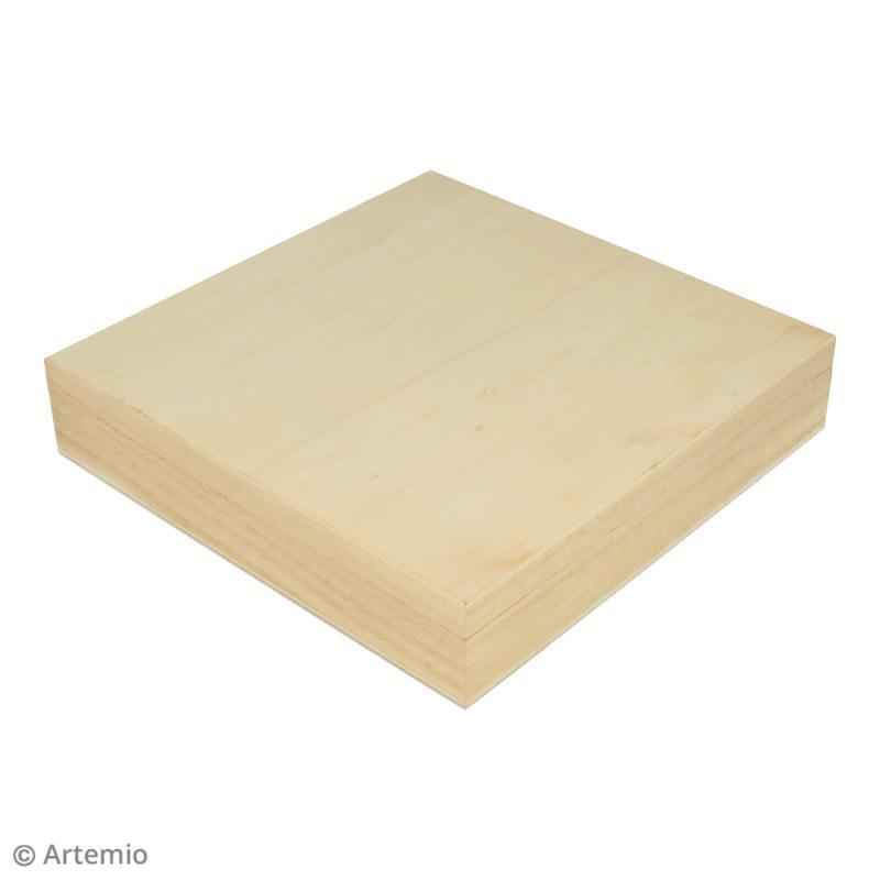Boîte à collier en bois à décorer - 19 x 19,5 cm - Photo n°2