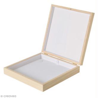 Boîte à collier en bois à décorer - 19 x 19,5 cm