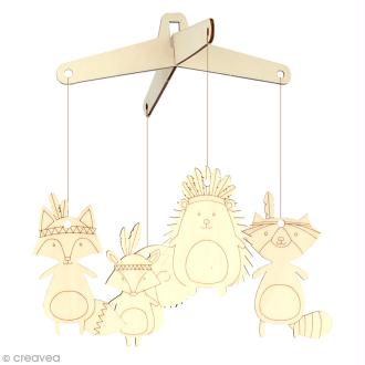 Kit mobile à monter et décorer - Animaux totem