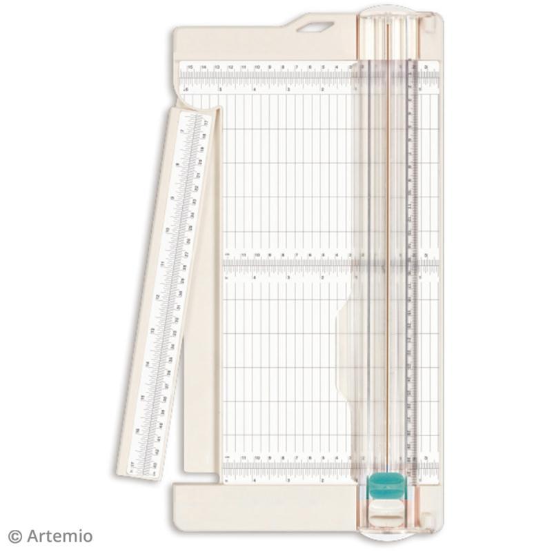 Massicot grand format - Règle rétractable - 31 x 43 cm - Photo n°2