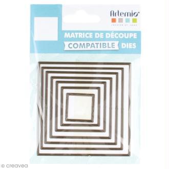 Set de dies imbriqués Artemio petit format - Carrés - 7,4 cm- 7 pcs