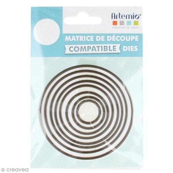 Set de dies imbriqués Artemio petit format - Cercles - 7,4 cm- 8 pcs - Photo n°1
